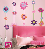 Flower Stripe Peel & Stick Giant Wall Decal Decalque em parede