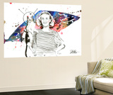 Spacecat Wall Mural by Lora Zombie