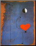 Joan Miró - Balerína II, c. 1925 Reprodukce aplikovaná na dřevěnou desku