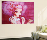 Cotton Candy Curly Cue Wall Mural by Camilla D'Errico