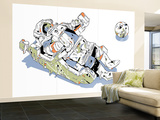 MMU and Moon Wall Mural – Large by  HR-FM