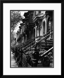 Stoops on 19th Century Brooklyn Row Houses Framed Photographic Print by Karen Tweedy-Holmes
