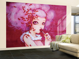 Cotton Candy Curly Cue Wall Mural – Large by Camilla D'Errico