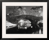New York Pond in Winter Framed Photographic Print by  Bettmann
