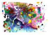 Miaou Poster par Lora Zombie