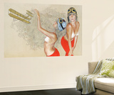 Aviator Wall Mural by Charmaine Olivia
