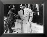 """Charles Aznavour and Lino Ventura (episode """"Homicide point ne seras""""): Le Diable et Les Dix Command Gerahmter Fotografie-Druck von  Limot"""