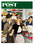 """More Money, Honey"" Saturday Evening Post Cover, July 21, 1951 Giclee Print by George Hughes"
