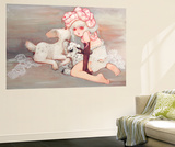 Pink Birthday Cake Wall Mural by Camilla D'Errico