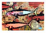 Miami Giclee-tryk i høj kvalitet af Shark Toof