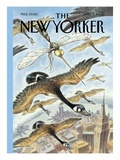 The New Yorker Cover - April 17, 2000 Premium Giclee Print by Peter de Sève