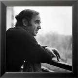 One of France's Greatest Pop Singers, Charles Aznavour Gerahmter Fotografie-Druck
