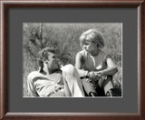 Johnny Hallyday and Sylvie Vartan, June 6, 1963 Framed Photographic Print by Luc Fournol
