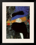 Lady with Hat and Feather Boa Print by Gustav Klimt