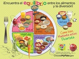 Kids MyPlate Spanish Poster Poster