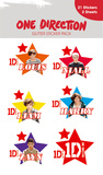 One Direction Glitter Stickers Stickers