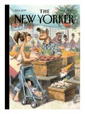 Small Growers - The New Yorker Cover, May 30, 2011 Regular Giclee Print by Peter de Sève