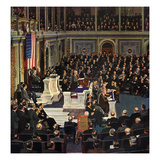 """Joint Session of Congress"", January 7, 1950 Giclee Print by John Falter"