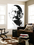 Gandhi Wall Mural by Alex Cherry