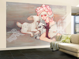 Pink Birthday Cake Wall Mural – Large by Camilla D'Errico
