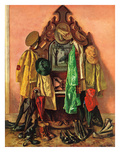 """Loaded Coat Rack"", April 14, 1945 Giclee Print by John Atherton"
