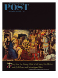 """Adoration of the Magi"" Saturday Evening Post Cover, December 26, 1959 Giclée-Druck von Gentile DaFabriano"