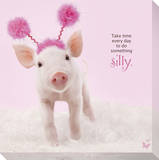 In The Pink! - Silly Pig Reproduction transf&#233;r&#233;e sur toile