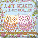 A Joy Shared Is a Joy Doubled Stretched Canvas Print