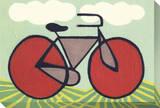Red Wheeled Bike Stretched Canvas Print