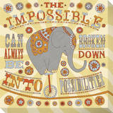 The Impossible Can Always Be Broken Down Into Possibilities Stretched Canvas Print