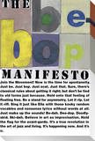 Be-Bop Manifesto Stretched Canvas Print