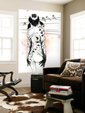 Tattoo Girl Wall Mural by Lora Zombie