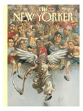 The New Yorker Cover - November 13, 1995 Premium Giclee Print by Peter de Sève