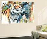 Mr Tiger Wall Mural by Lora Zombie