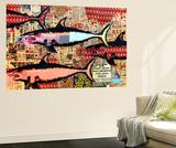 Miami Wandgemälde von Shark Toof