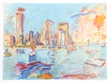 Manhattan-View from Governer's Island I Limited Edition by Wayne Ensrud
