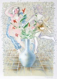 Lillies, Carnations & Stones Collectable Print by Rainer Gross