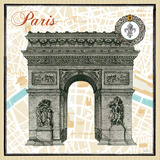 Monuments des Paris Arc Art by Sue Schlabach