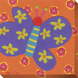 Purple Butterfly Flowers Leinwand