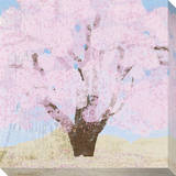Pink Tree Stretched Canvas Print