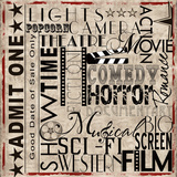 Lights Camera Action Poster by Lisa Wolk