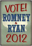 Vote Romney & Ryan 2012 Retro Posters