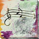 Feel The Music Music Notes Leinwand