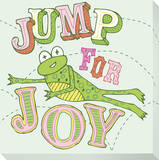 Frog - Jump For Joy Reproduction transférée sur toile par Jen Skelley