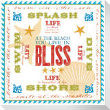 At The Beach You Live In Bliss Stretched Canvas Print