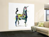 Unicorn Wall Mural – Large by Lora Zombie