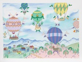 Country Balloon Fair Collectable Print by Jack Hofflander