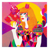 The Queen Giclee Print by Diela Maharanie