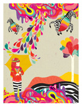 My Flying Zebra Giclee Print by Diela Maharanie