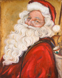 Smiling Santa Posters by Patricia Quintero-Pinto